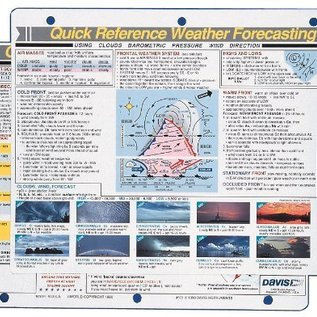 DI Weather Quick Reference card by Davis DAV131
