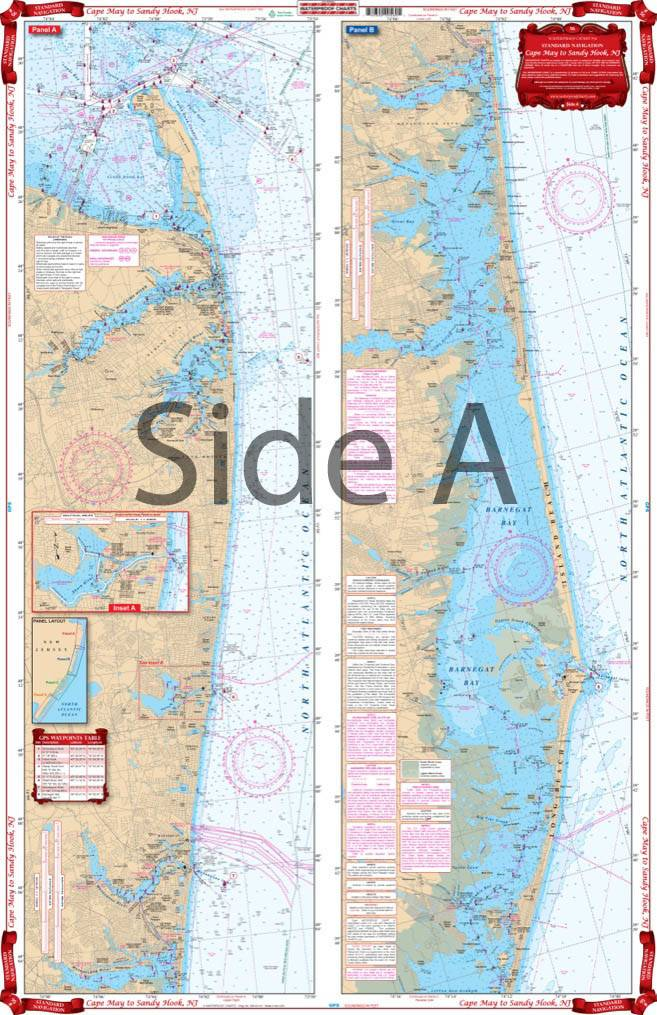 Cape May To Sandy Hook Nj By Waterproof Charts 56 Iss 56