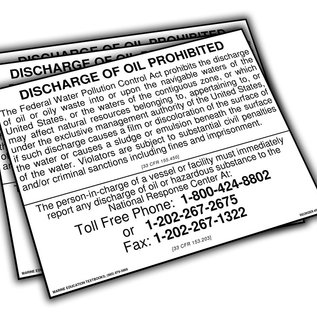 "MET Discharge of Oil Prohibited 10"" X 7""  S-104"