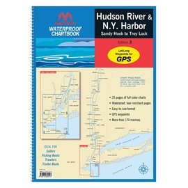 MTP Hudson River & New York Harbor Waterproof Chartbook by Maptech WPB350
