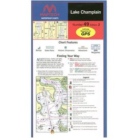 MTP Lake Champlain Waterproof Chart by Maptech WPC049 3E