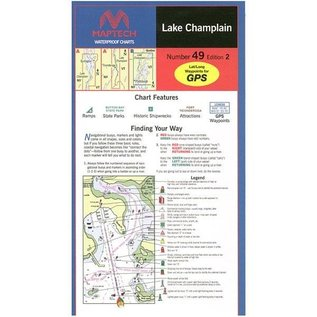 MTP Lake Champlain Waterproof Chart by Maptech WPC049