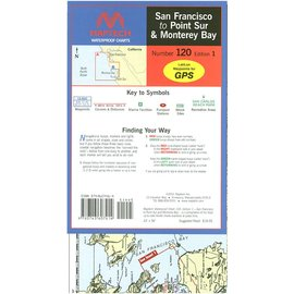 MTP San Francisco to Point Sur & Monterey Bay Waterproof Chart by Maptech WPC120 2E