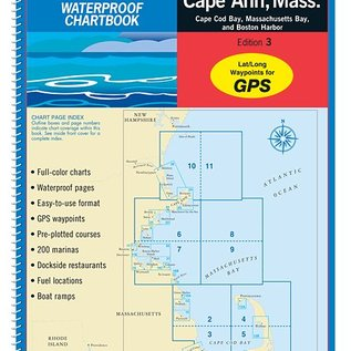 MTP Cape Cod, MA to Cape Ann, MA Waterproof Chartbook by Maptech WPB0240-3