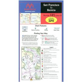 MTP San Francisco to Benicia Waterproof Chart by Maptech WPC121