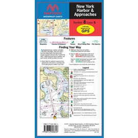MTP New York Harbor and Approaches Waterproof Chart by Maptech WPC008 5E