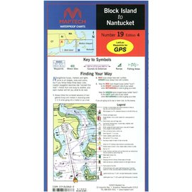 MTP Block Island to Nantucket Waterproof Chart by Maptech WPC019 5E