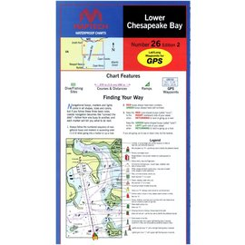 MTP Lower Chesapeake Waterproof Chart by Maptech WPC026