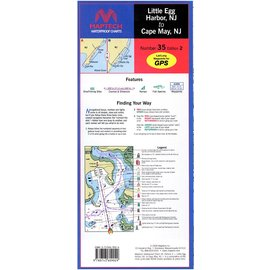 MTP Little Egg Harbor, NJ to Cape May, NJ Waterproof Chart by Maptech WPC035 3E