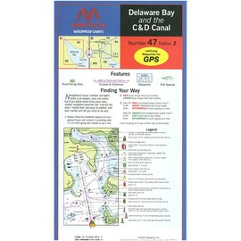 MTP Delaware Bay and the C & D Canal Waterproof Chart by Maptech WPC047 3E