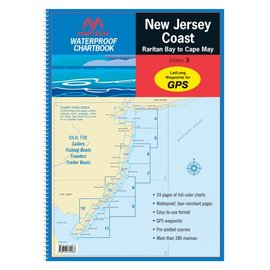 MTP New Jersey Coast Waterproof Chartbook by Maptech  3ED 2012 WPB360
