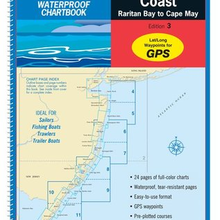 MTP New Jersey Coast Waterproof Chartbook by Maptech  3ED 2012 WPB360