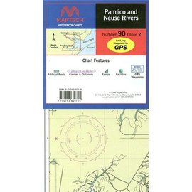 MTP Pamlico and Neuse Rivers Waterproof Chart by Maptech WPC090