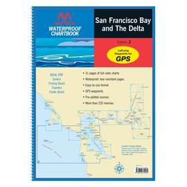 MTP San Francisco Bay and the Delta Waterproof Chartbook by Maptech WPB1210
