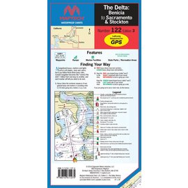MTP The Delta-Benicia to Sacramento & Stockton Waterproof Chart by Maptech WPC122 3E