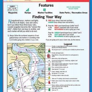 MTP The Delta-Benicia to Sacramento & Stockton Waterproof Chart by Maptech WPC122 3E