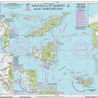 W&P I-I A24 Anguilla, St Martin and St Barthelemy chart by Imray-Iolaire