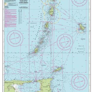 W&P I-I B  Martinique to Trinidad Passage Chart by Imray-Iolaire