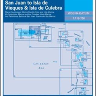 W&P I-I A14 San Juan to Isla de Vieques and Isla de Culebra -   Northeast Coast of Puerto Rico
