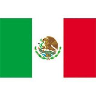 """Mexico  Flag 12"""" x 18""""  - Nylon"""