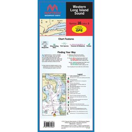 MTP Western Long Island Sound Waterproof Chart by Maptech WPC016