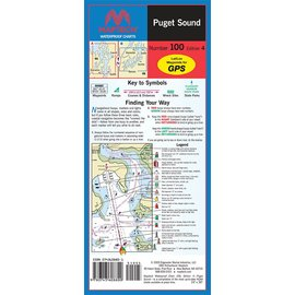 MTP Puget Sound Waterproof Chart by Maptech WPC100 5E
