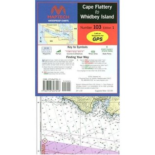 MTP Cape Flattery to Whitney Island Waterproof Chart by Maptech WPC103 2E