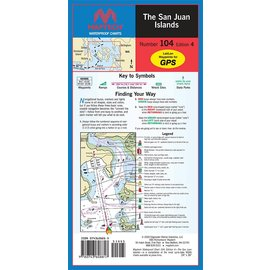 MTP The San Juan Islands Waterproof Chart by Maptech WPC104