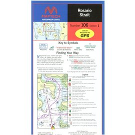 MTP Rosario Strait Waterproof Chart by Maptech WPC106