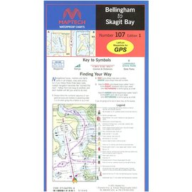 MTP Bellingham to to Skagit Bay Waterproof Chart by Maptech WPC107 1E