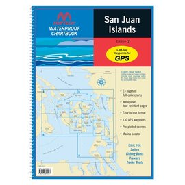 MTP San Juan Islands Waterproof Chartbook by Maptech WPB1510 4E
