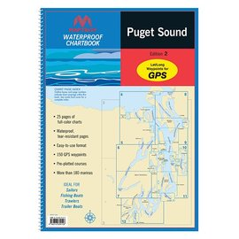 Puget Sound Waterproof Chartbook by Maptech WPB 1520