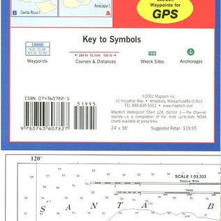 MTP The Channel Islands Waterproof Chart by Maptech WPC128