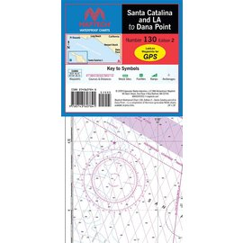 MTP Santa Catalina and LA to Dana Point Waterproof Chart by Maptech WPC130