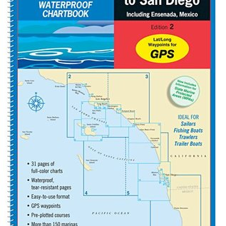 MTP Los Angeles to San Diego, including Ensenada Waterproof Chartbook by Maptech WPB1240