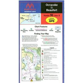 MTP Ocracoke to Beaufort Waterproof Chart by Maptech WPC091-3