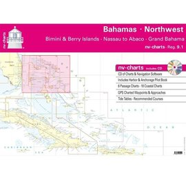 NP NV Charts Region 9.1  Northwest Bahamas, Bimini & Berry Islands (Nassau to Abaco - Grand Bahama)