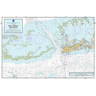 "PS Nautical Placemat Key West Harbor 12""x18"""