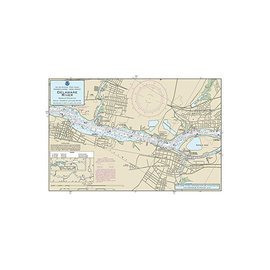 """PS Nautical Placemat Delaware River 12""""x18"""""""