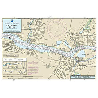 "PS Nautical Placemat Delaware River 12""x18"""
