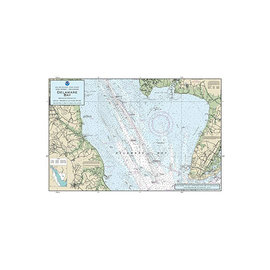 """PS Nautical Placemat Delaware Bay 12""""x18"""""""