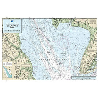 "PS Nautical Placemat Delaware Bay 12""x18"""