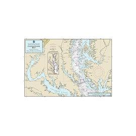 "PS Nautical Placemat Chesapeake Bay 12""x18"""
