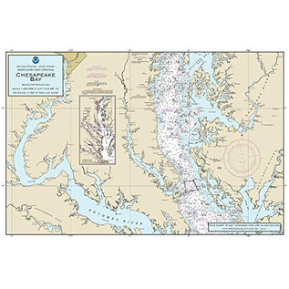 "PS Nautical Placemat Chesapeake Bay 12""x18"""