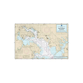 "PS Nautical Placemat Baltimore Harbor 12""x18"""