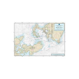 """PS Nautical Placemat Woods Hole 12""""x18"""""""