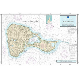 "PS Nautical Placemat Block Island 12""x18"""
