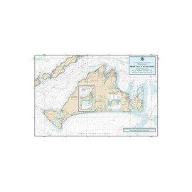 "PS Nautical Placemat Martha's Vineyard 12""x18"""
