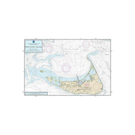 "PS Nautical Placemat Nantucket Island 12""x18"""