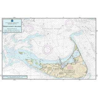 "PS Nautical Placemat Nantucket Island 12""x18"""